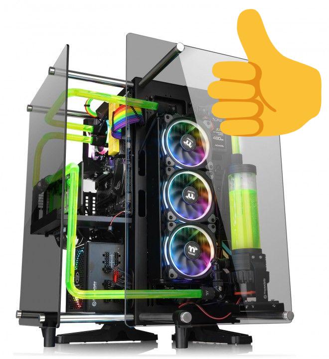 Un PC en train d'être construit