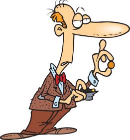 Dessin/cartoon d'un monsieur doté d'un air aigrit, il tient un porte monnaie dans la main et en sort une pièce. On sent qu'il a du mal à la donner