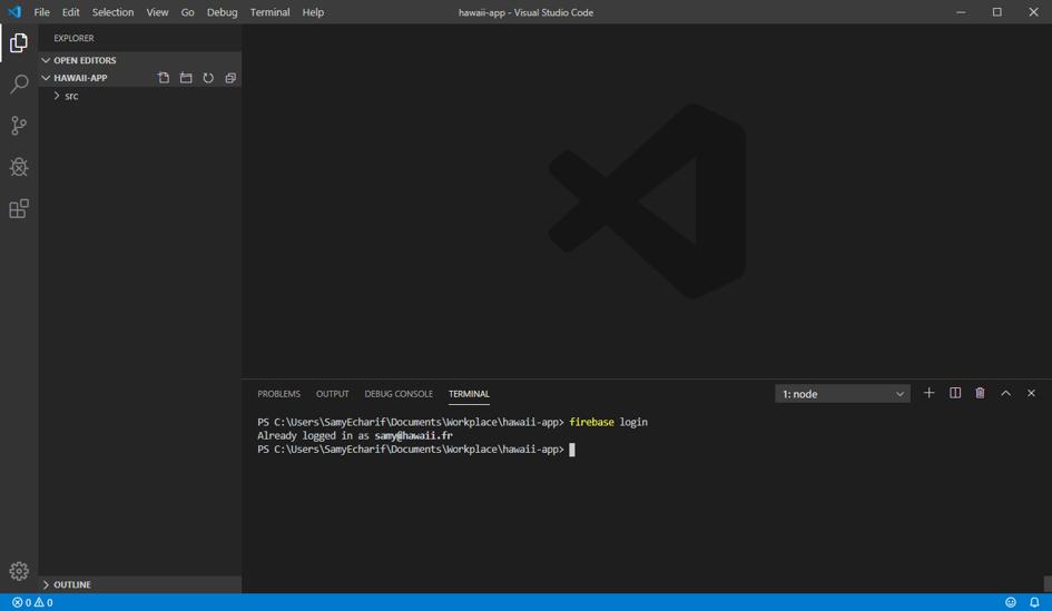 2ème page de développement Firebase