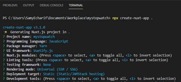 Une page de code à fond noir